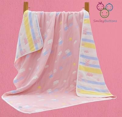 6 Layer Reversible Blanket  Pink Shine
