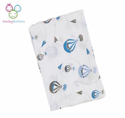 Organic Muslin Towel Blue Parachute