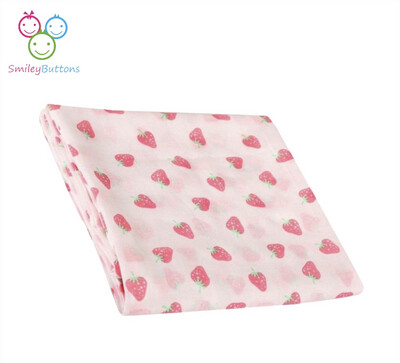 Organic Muslin Towel Strawberry