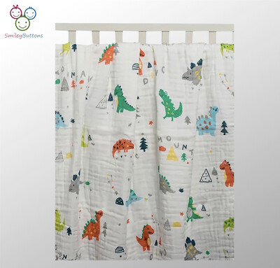 6 Layer Blanket Mountain Dino
