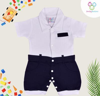 Navy / white-collar dress