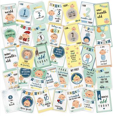 Milestone Cards - Blue