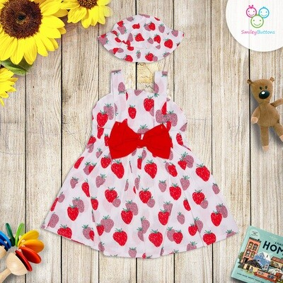Frock Strawberry with Cap