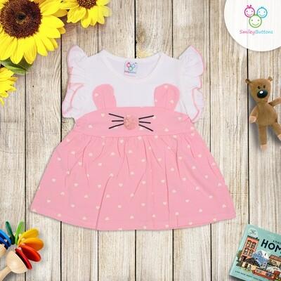 Pink POLKA Kitty Frock