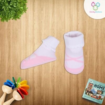 Baby Socks Pink & White