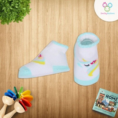 Baby Socks Unicorn Blue