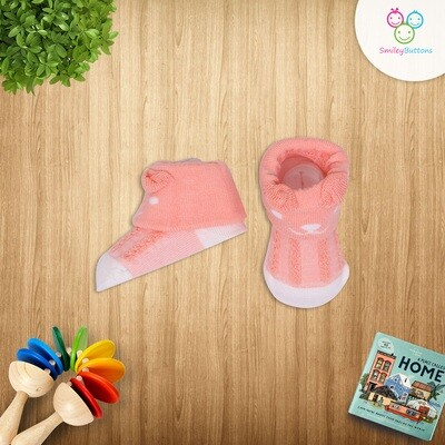 Baby Socks Peach Bear