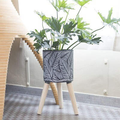 Areca 'Cement' Planter Stand