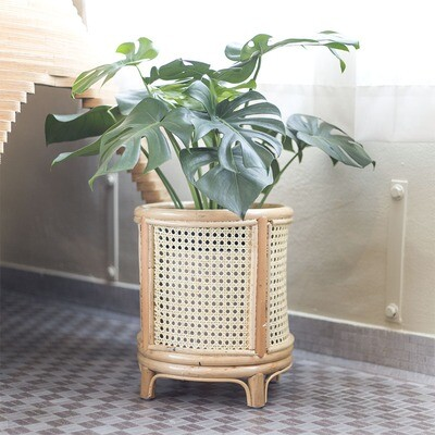 Cloud Rattan Planter Stand