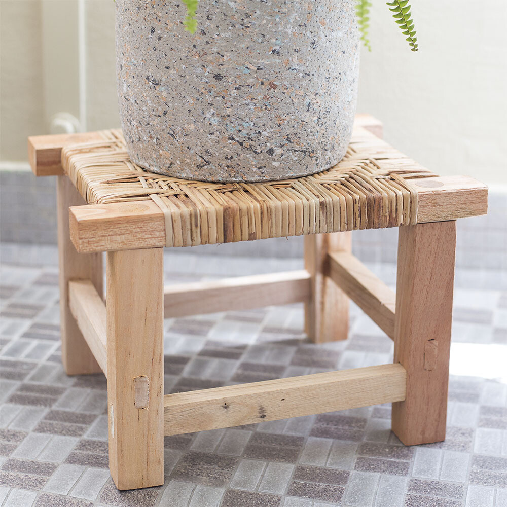 Geox Rattan Planter Stand