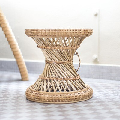 Tide Spiral Rattan Planter Stool