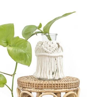 Delilah Macrame Glass Jar