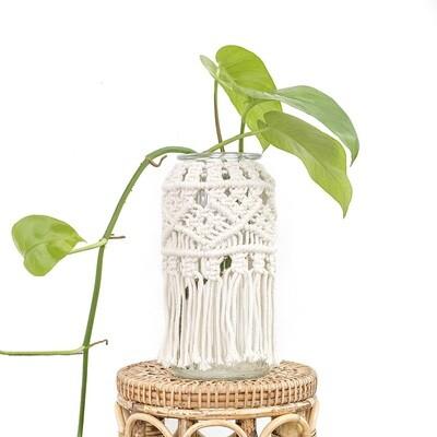 Aurora Macrame Glass Jar