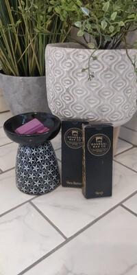 Floral Wax Melt Warmer (Black)