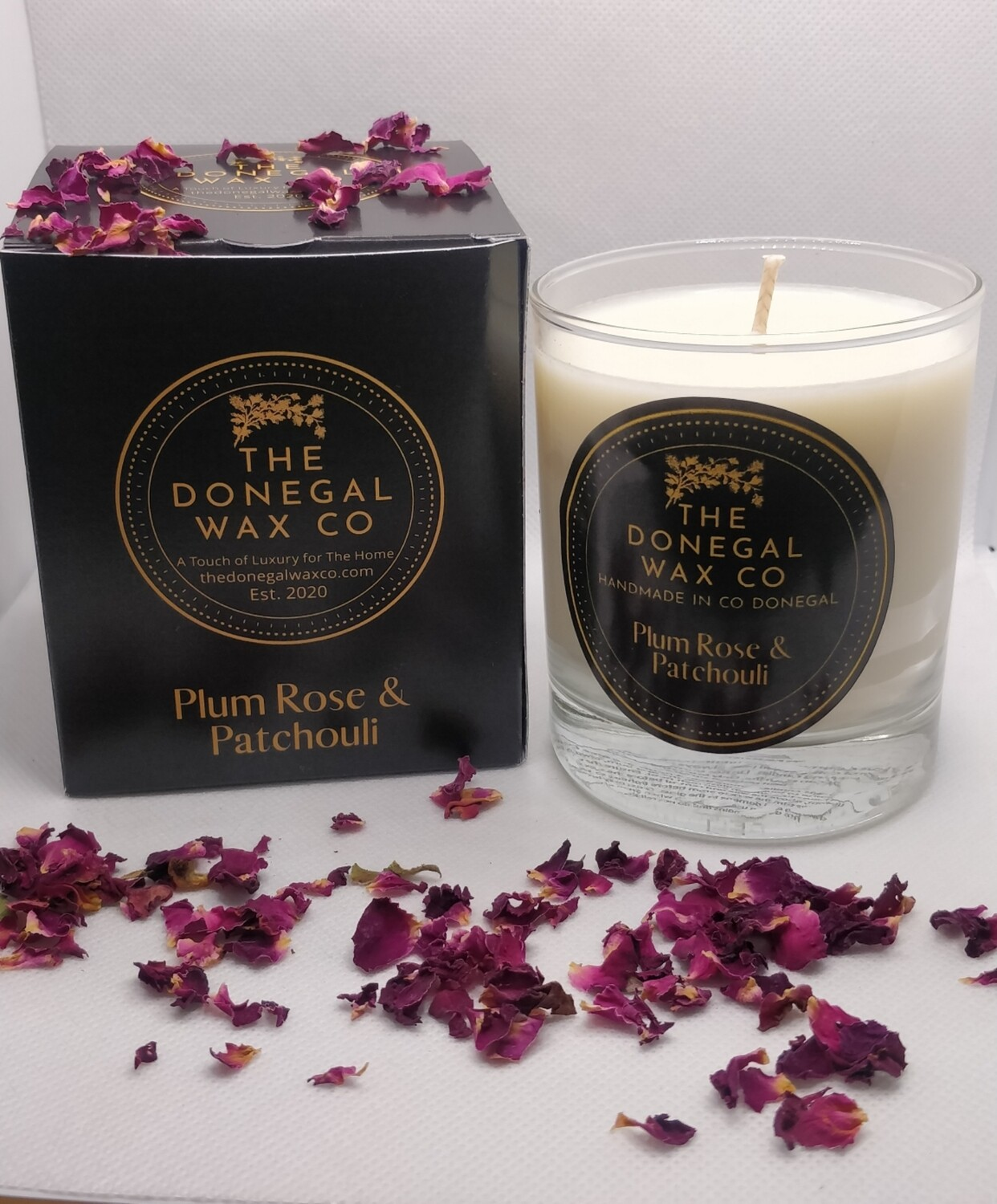 Plum Rose & Patchouli Luxury Soy Candle