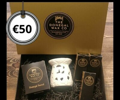 Luxury Gift Set with Soy Candle + Embossed Wamer + 3 Snap Bar Wax Melts