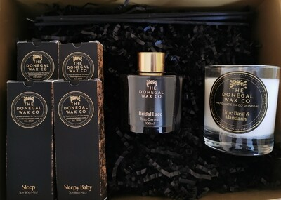 Luxury Gift Set with Reed Diffuser + 4 Soy Wax Melts + Soy Wax Candle