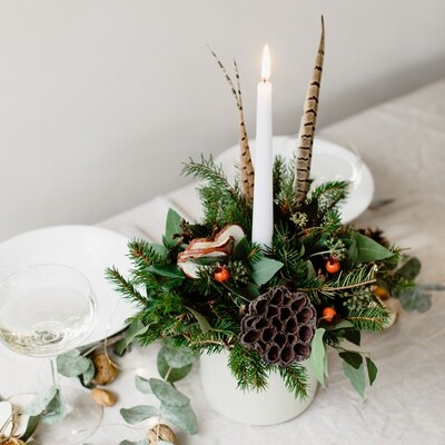 Festive Table Candle Arrangement Kit