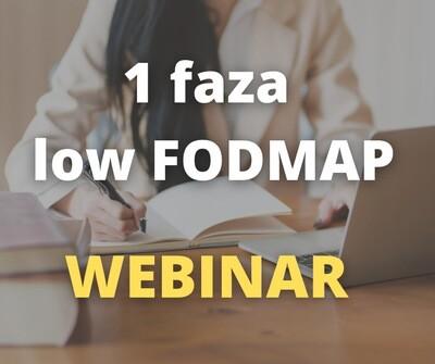 Dieta przy IBS i SIBO - low FODMAP 1 faza - Webinar i Q&A (19 stycznia, godz. 19:00)