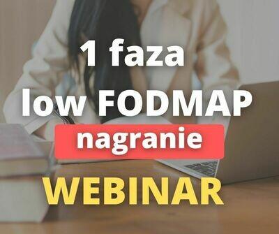 Dieta przy IBS i SIBO - low FODMAP 1 faza - NAGRANIE z webinaru