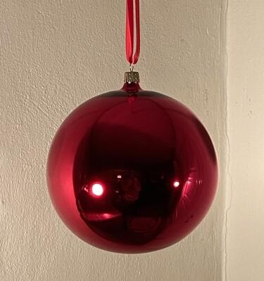 15 cm Klassisk Rød Julekugle