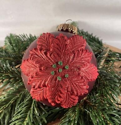 10 cm Rød med julestjerne