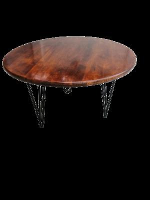 Masa cafea din lemn si metal Hairpin