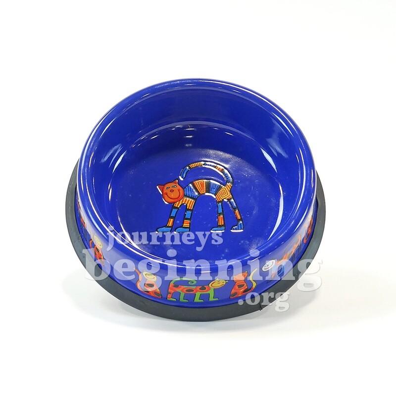Enamel Pet Bowl - Blue