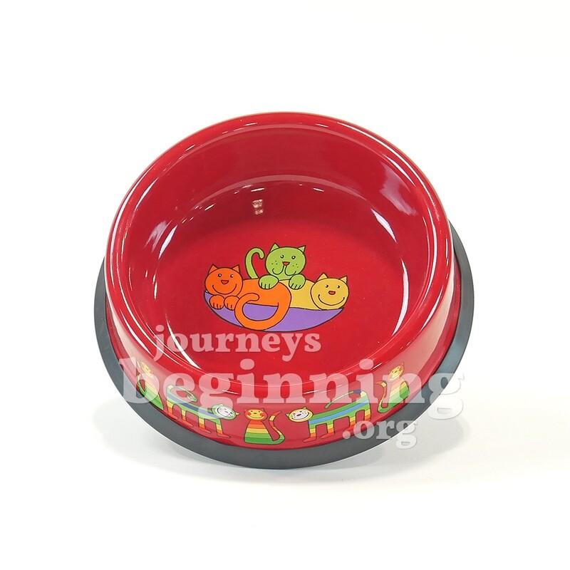 Enamel Pet Bowl - Red