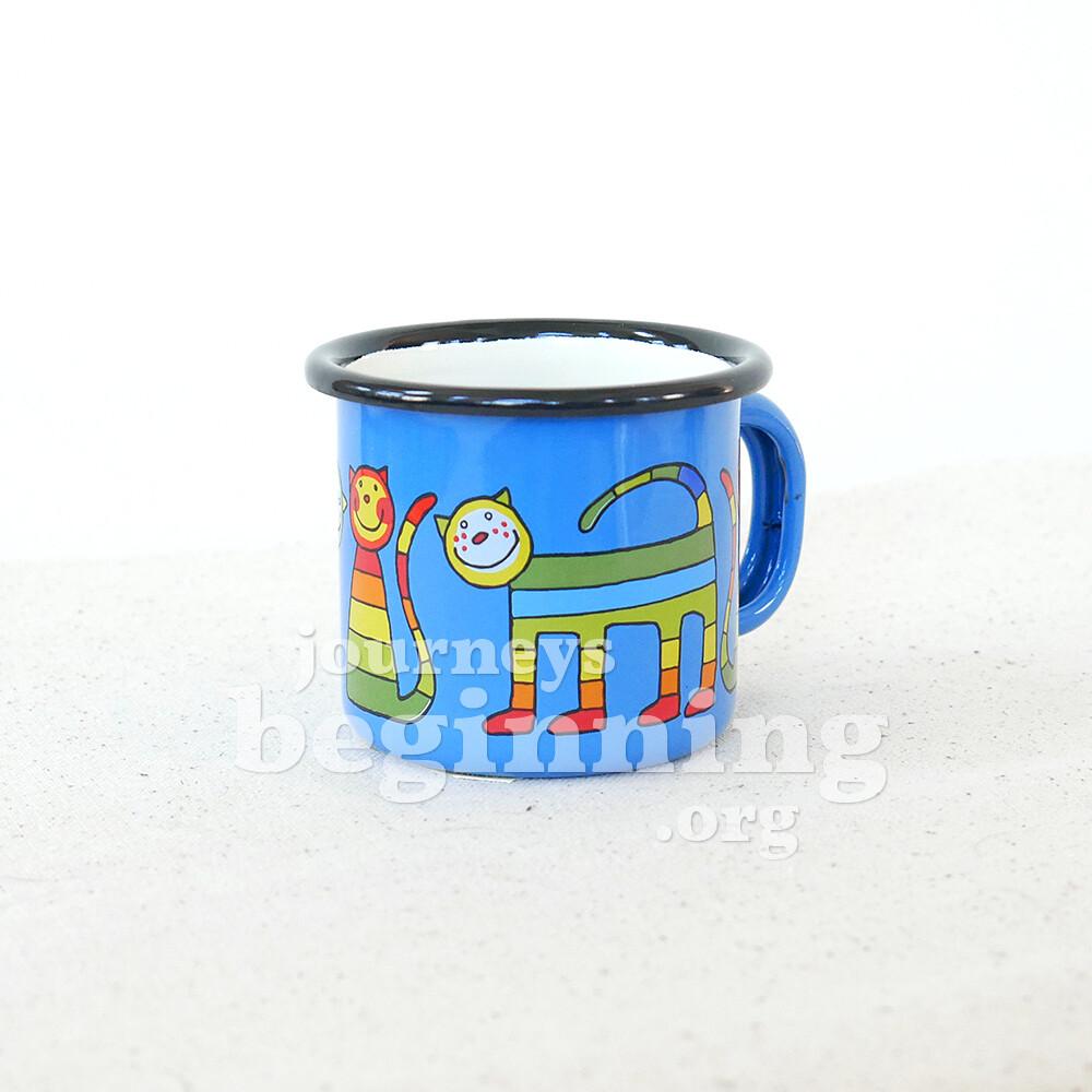 Rainbow Cat Enamel Cup - Small