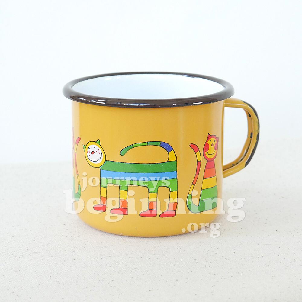Rainbow Cat Enamel Mug - Large