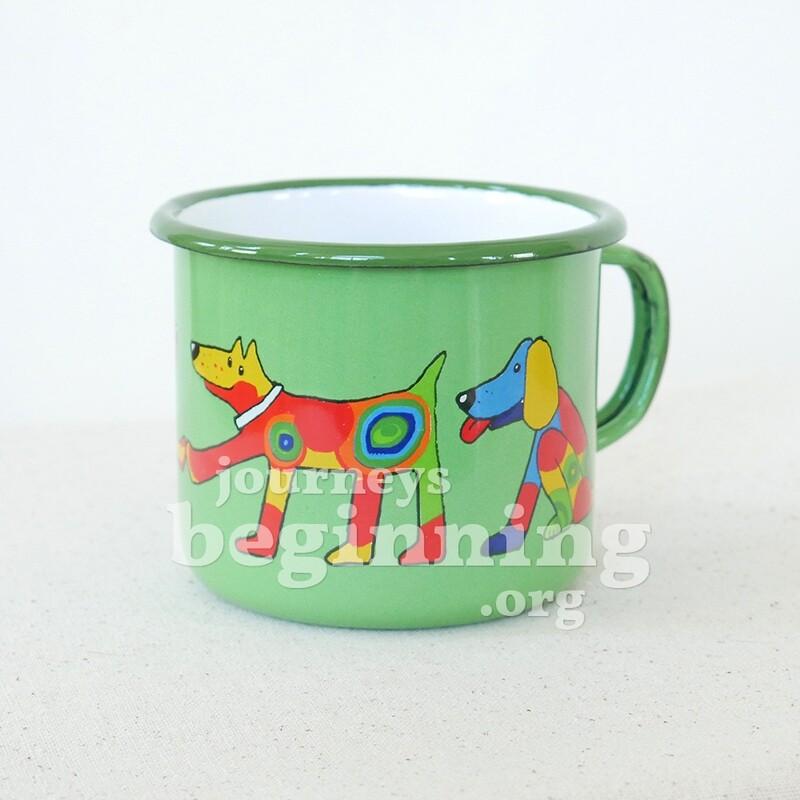 Spotted Dog Enamel Mug - Large