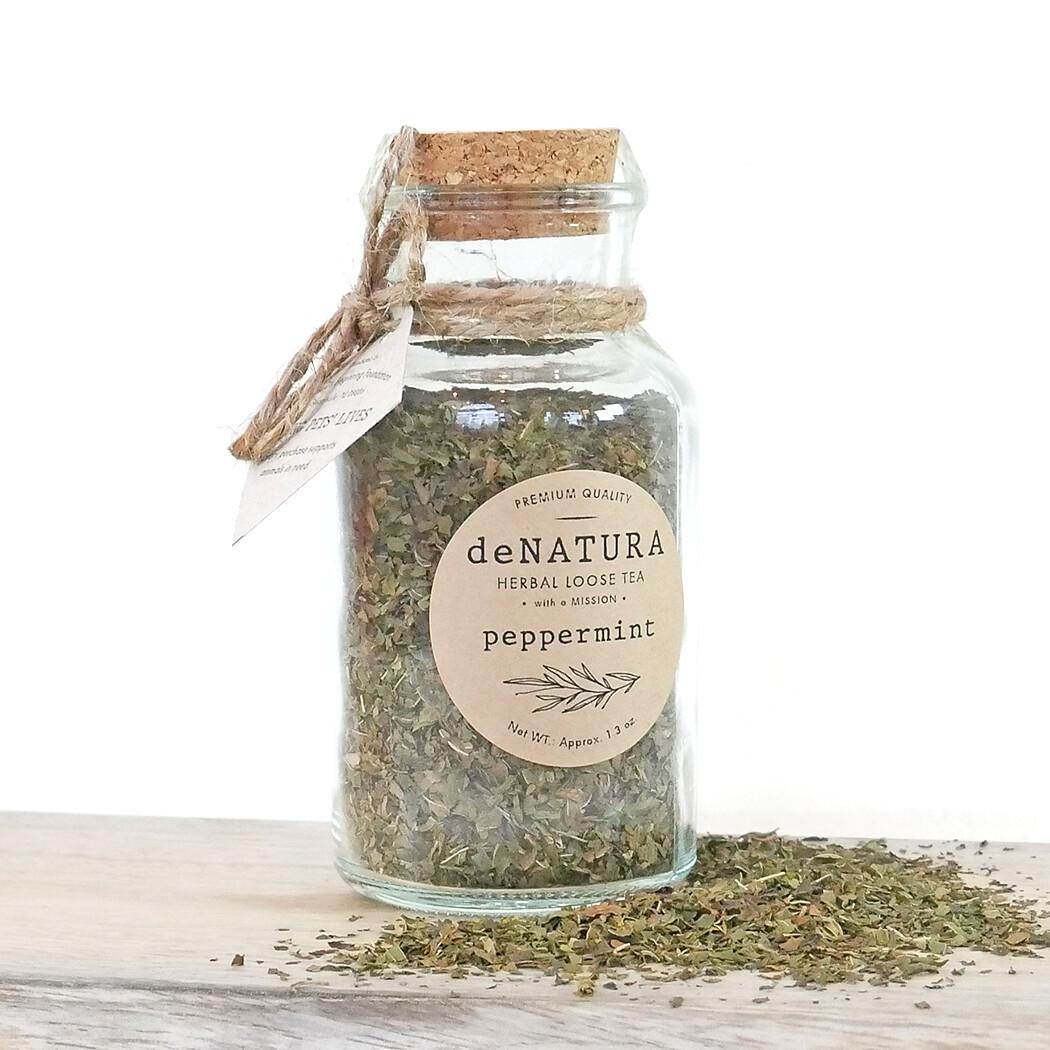 Peppermint - Herbal Tisane - Glass Jar