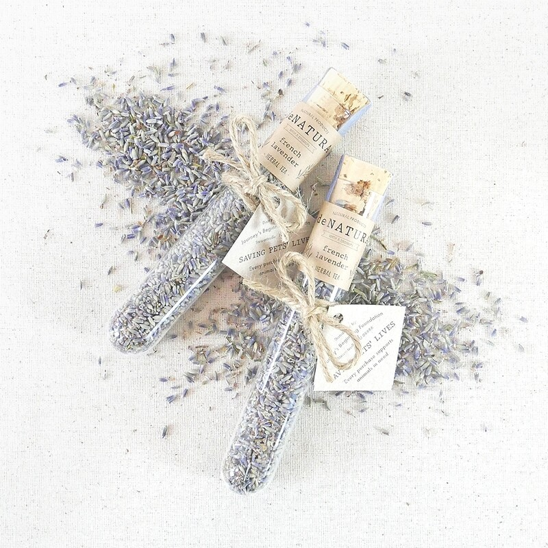 French Lavender - Herbal Tisane - Single Glass Tube