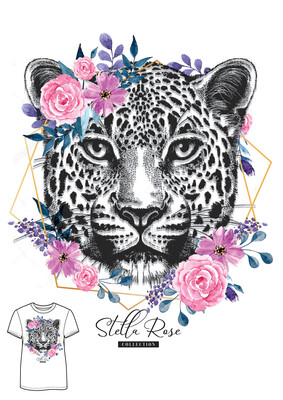 Leopard Rose T-shirt