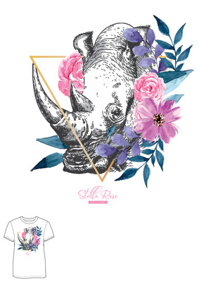 Rhino Rose T-shirt