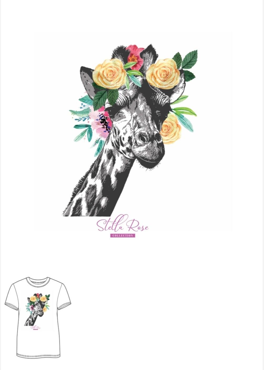 Rose Giraffe T-shirt