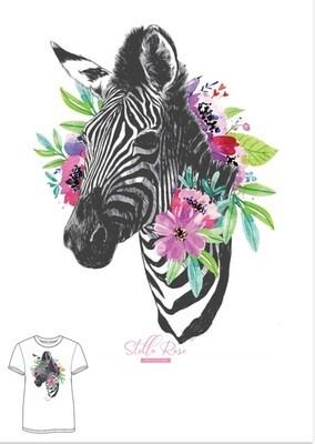 Rose Zebra T-shirt