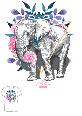 Rose Elephant T-shirt