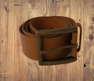 Tan buffalo leather belt