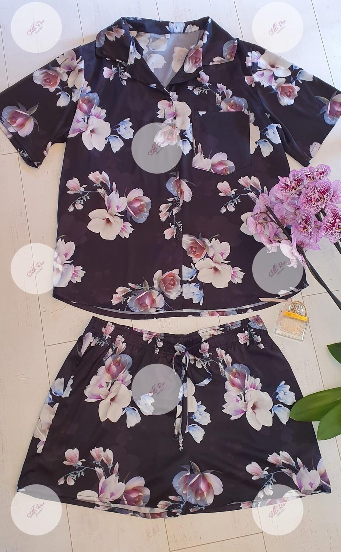 Ladies night wear shorty set   SRCPJ2