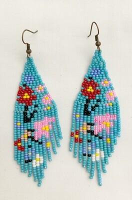 Philippa French Beaded Chandelier Flower earrings