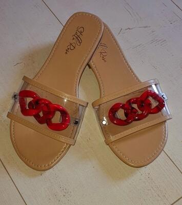 Kokomo Coral slide sandal