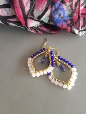 Cazz Creations Amethyst Drop Earrings