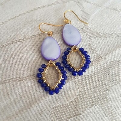 Cazz Creations Amethyst Pearl Earrings