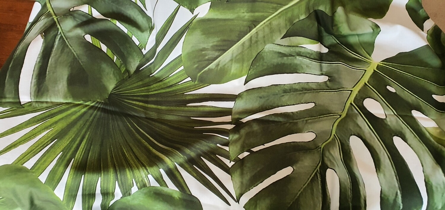 Wild Palm 60x60 scatter cushions with down inner