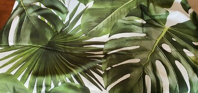 60x60 Wild Palm leaf scatter cushions