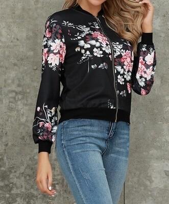 Floral Rose bomber jacket