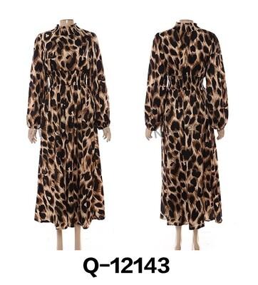Leopard Print Gypsy Dress