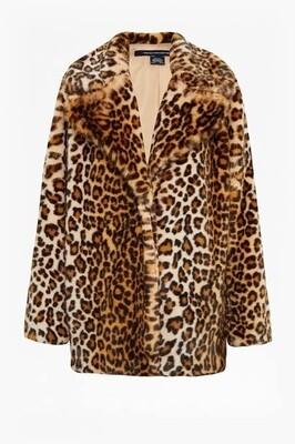 Faux Fur Leopard Jackets